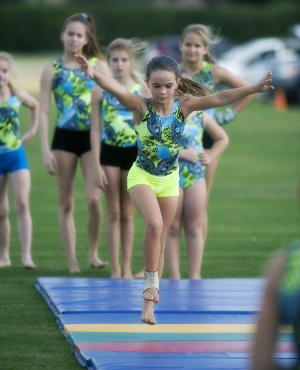 Gymnasts from Epic Gymnastics of Palm Beach perform for the crowd. Photo by Scott Fisher