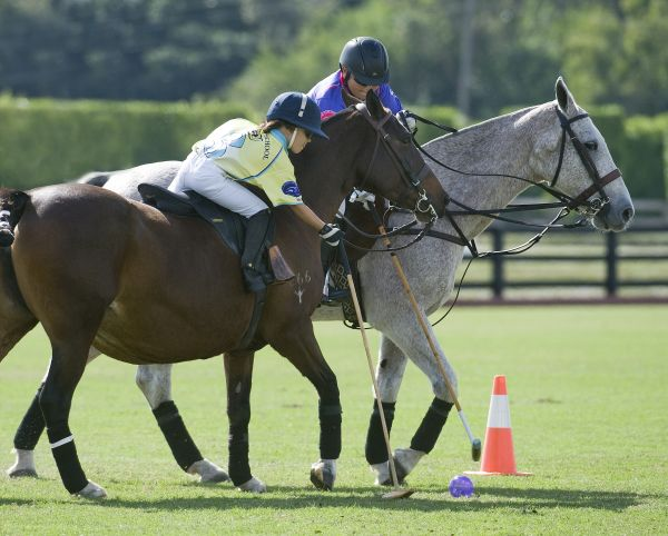 Nikko Ramirez of Polo School Purple defends Finn Secunda of Polo School Yellow as he tries to score during the Walk Alone event. Photo by Scott Fisher