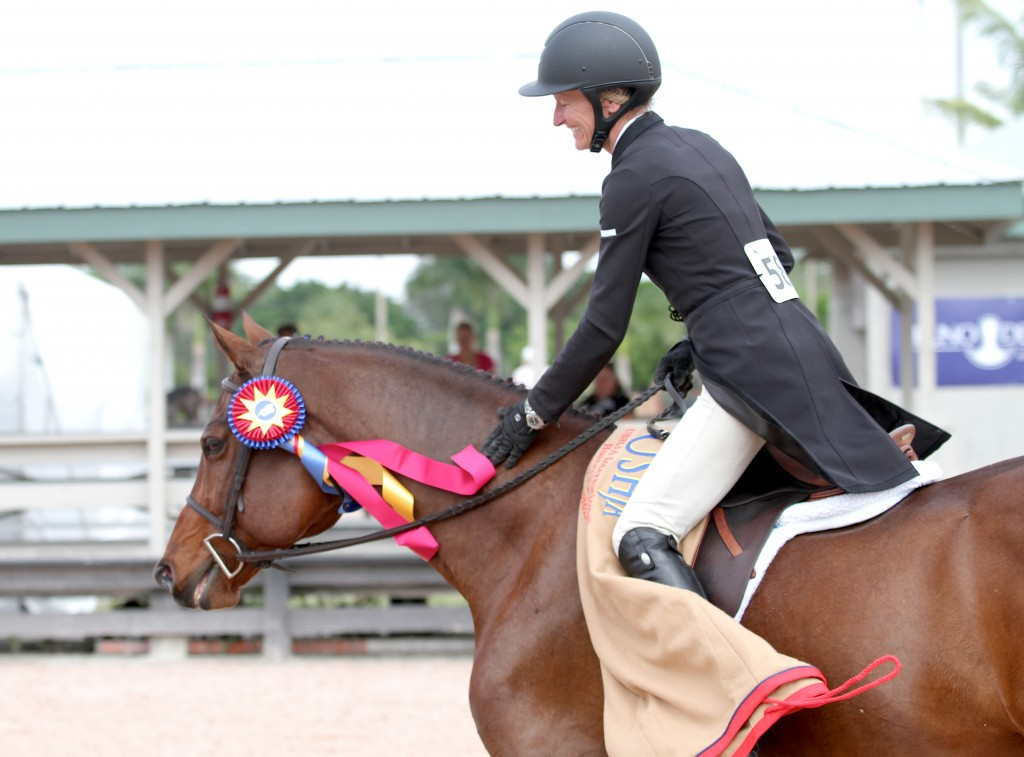 All smiles after the $15,000 USHJA International Hunter Derby victory
