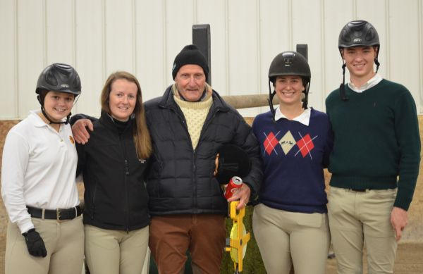 The grand prix group: Emma Sargent, Caitie Hope, George Morris, Lisa Goldman and Stephen Foran.