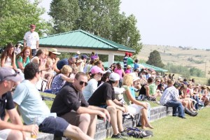 Spectators gather for Saturday afternoon Grand Prix Photo by Carrie Wirth