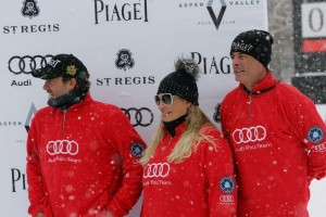 Audi runners-up Facundo Pieres (3), Melissa Ganzi (1) and Juan Bollini (2). Photo by Gary Hubbell
