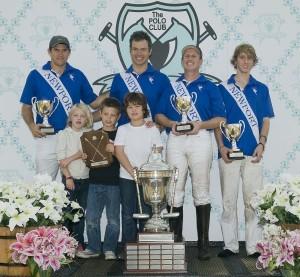 Winning Far Niente team Tommy Collingwood, Michel Dorignac, Gene Goldstein, Michael Bellissimo. Photo by Scott Fisher