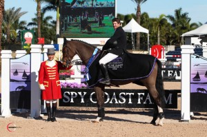 Shane Sweetnam in his winning presentation with ringmaster Gustavo Murcia