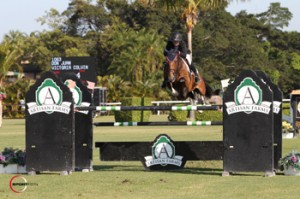 16-year-old Victoria Colvin riding Don Juan won the 2014 Artisan Farms Young Rider Grand Prix Series at the FTI Consulting Winter Equestrian Festival in Wellington, Florida. Photo by Sportfot