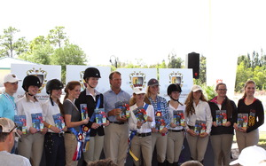 Scholarship Award Recipients with Olympian, Peter Wylde
