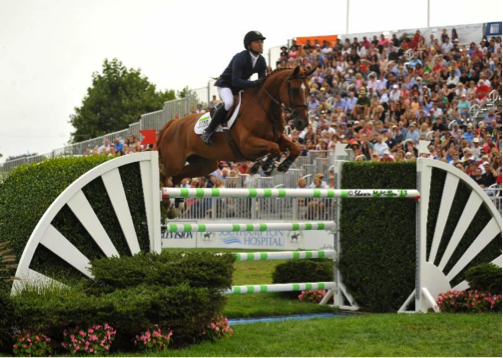 Kent Farrington, winner of the $250,000 Hampton Classic Grand Prix in 2013