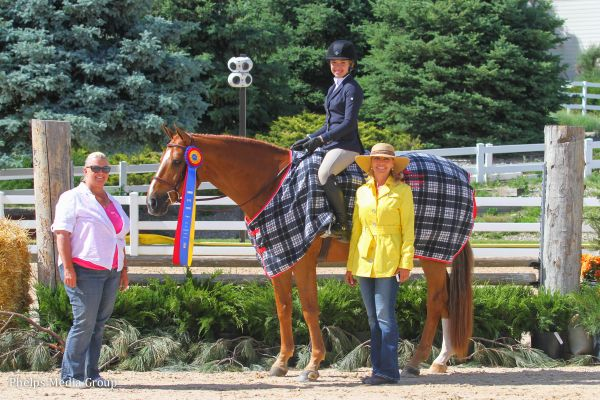 Natalia De Vencenty and Golden Opportunity $1,000 North American League Children's Hunter Classic Winners Photo by Mary Adelaide Brakenridge