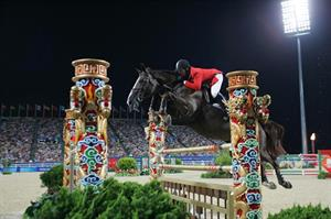 McLain Ward and Sapphire at the 2008 Olympic Games (Bob Langrish)