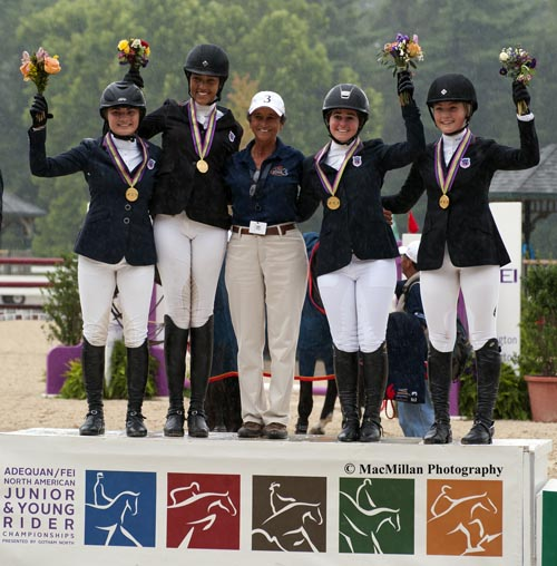 Zone 3 Captures Team Gold in the Young Rider Division. Photo Credit: MacMillan Photography