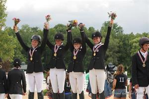 Area II, CCI1* Team Gold medalists (Brant Gamma Photography)