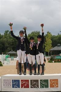 CCI1* Individual Gold medalists (from left) Patience O'Neal, Alexis Nelson, and Clara Cargile (Brant Gamma Photography)