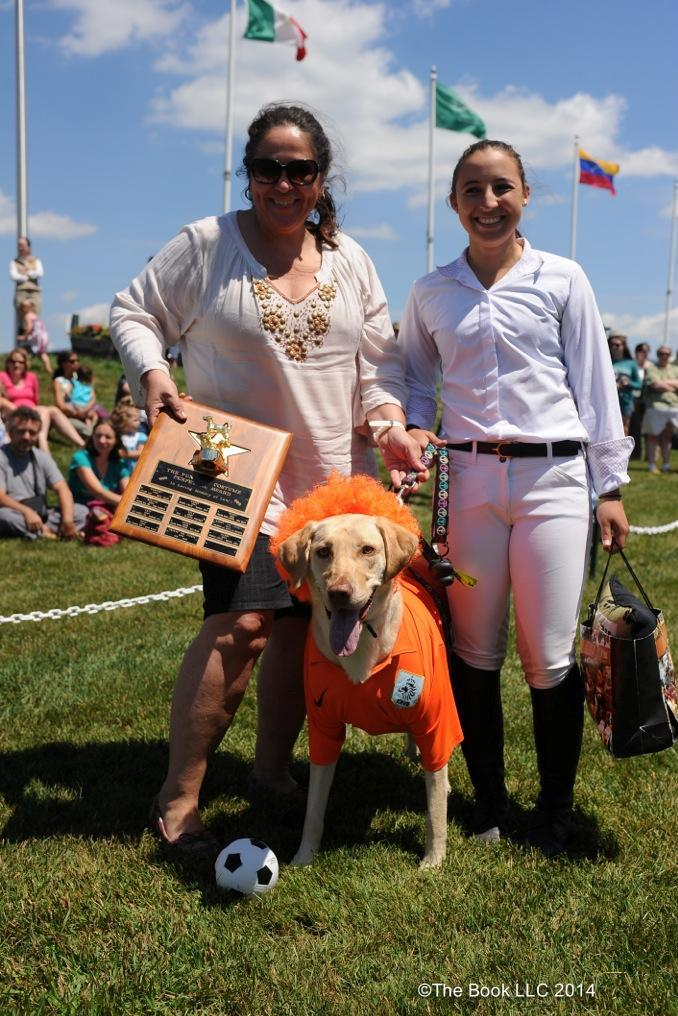 "Charlie won the Lulu Perpetual Trophy for the funniest costume as ""Robben van Barkie, a Dutch soccer player."""