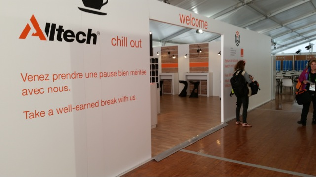 The Alltech Media Lounge - where Darlene will spend lots of time updating Sidelines!