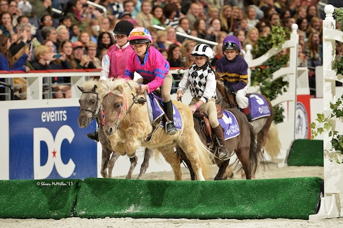 Enjoy the fast, furious and fun WIHS Shetland Pony Steeplechase races on Thursday and Saturday nights! Photo copyright Shawn McMillen Photography.