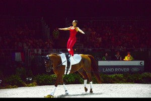 Vaulting in action.