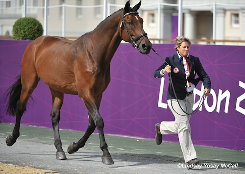 Missy Ransehousen jogs Lord Ludger at the 2012 Paralympic Games. (Photo Credit: