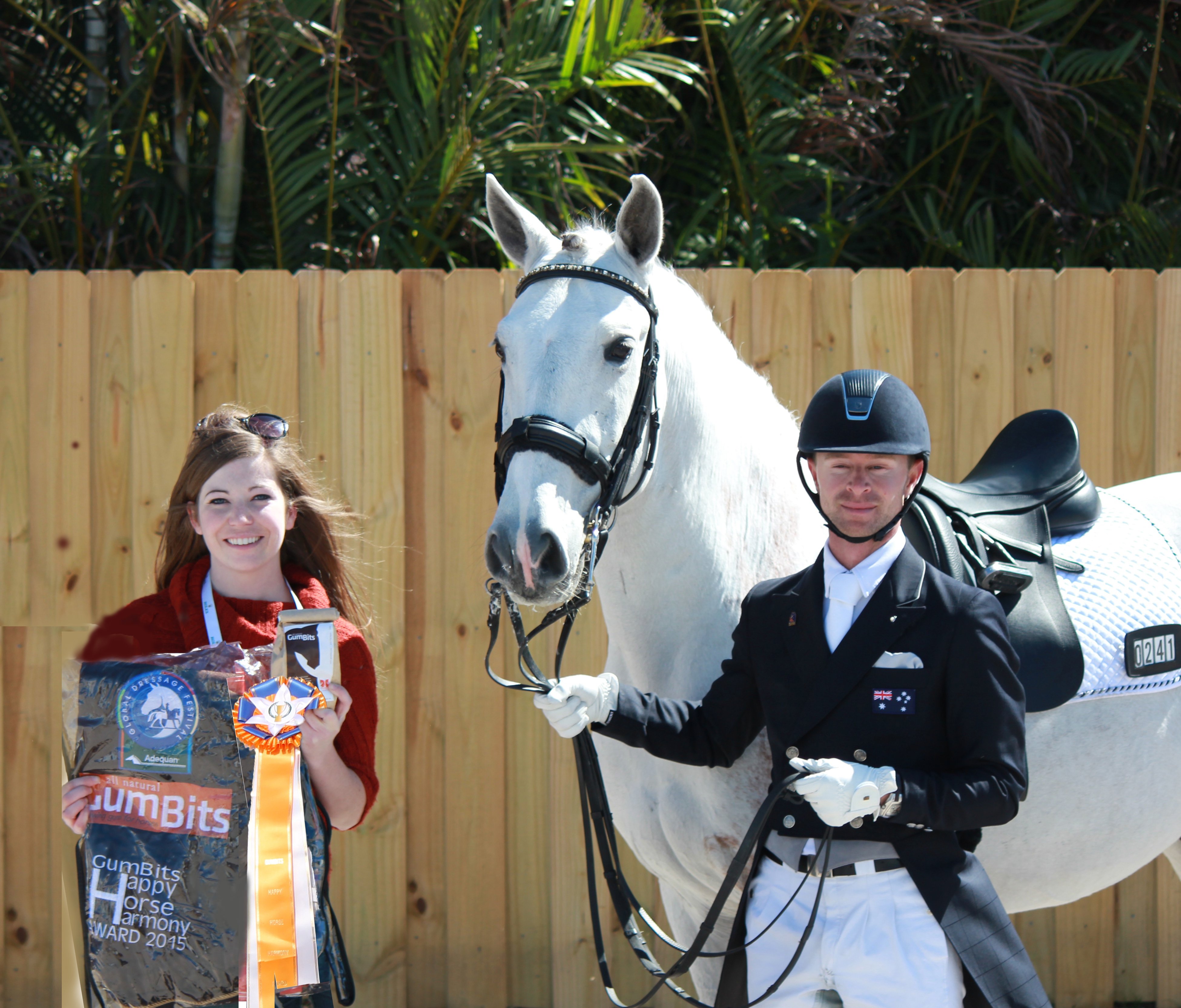 Great teamwork earns Nicholas Fyffe (right) and Banzai LS the GumBits Happy Horse Harmony Award. (Photo courtesy of JRPR)
