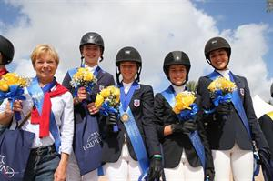 The winning U.S. Child Riders Team. (Photo Credit: Sportfot)