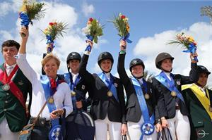 The winning U.S. Junior Rider Team. (Photo Credit: Sportfot)