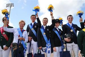 The winning U.S. Young Rider Team. (Photo Credit: Sportfot)