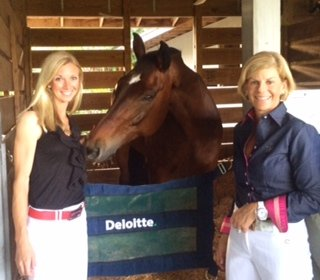 "Laura Graves (left), Verdades ""Diddy,"" and Judy Sloan (Photo courtesy of Deloitte)"