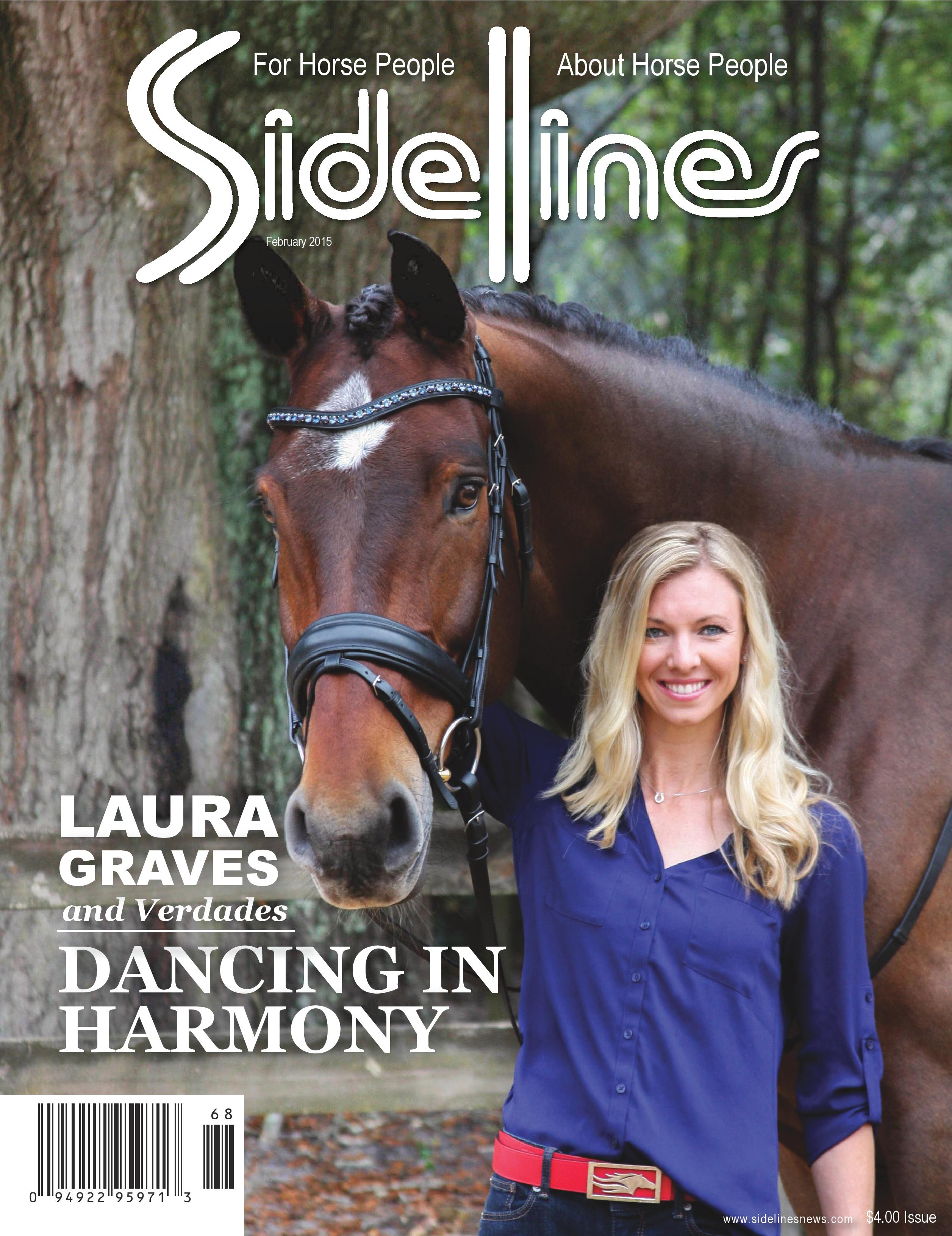 Laura Graves on the cover of the February issue of Sidelines Magazine. (Photo credit: Triple Stitch Photography)