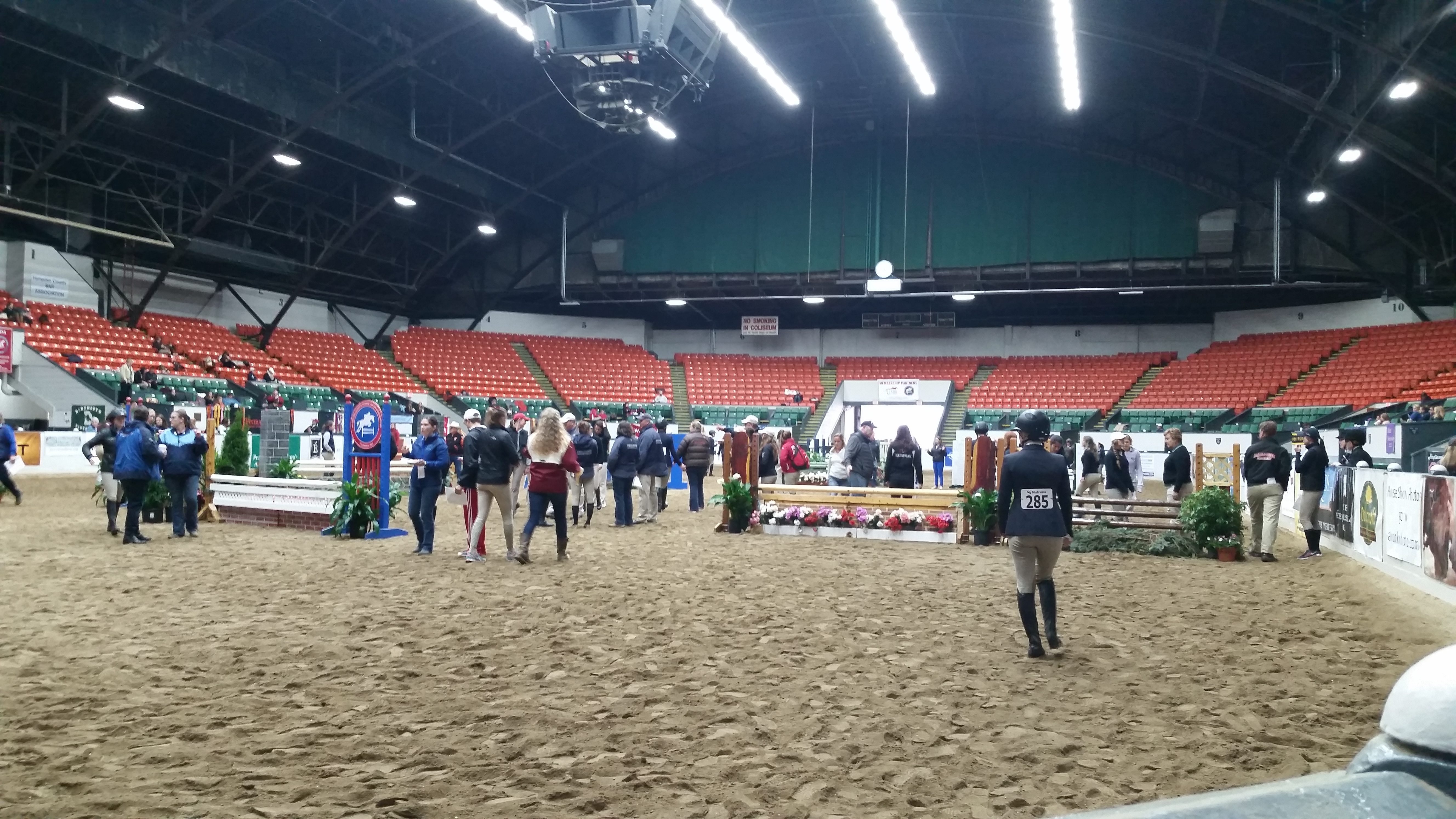 IHSA National Championships course walk. (Photo credit: Alistaire Ruggiero)