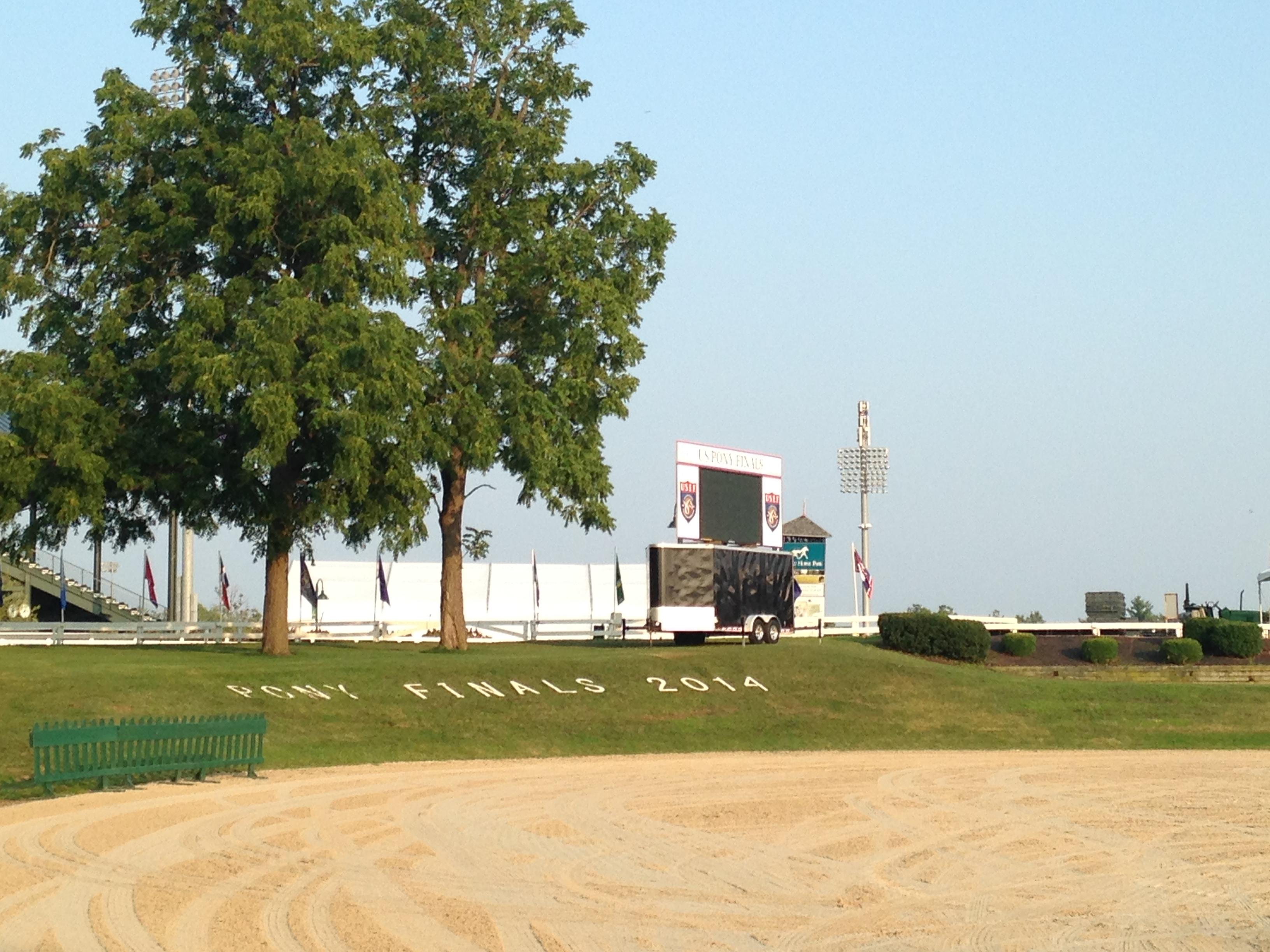 The gorgeous venue — the Walnut Arena at the Kentucky Horse Park. (Photo courtesy of Sydney Flashman)