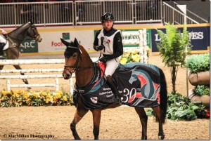 2015 Canadian Pan Am Eventing Team member Waylon Roberts of Port Perry, ON, guided the speedy and handy mare West River to two clear rounds to win his eighth consecutive Royal Indoor Eventing Challenge.