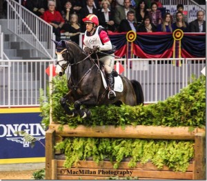 American rider Buck Davidson rode Wundermaske to two clear rounds to finish second in the 2015 Horseware Indoor Eventing Challenge at the Royal. Photo by Shelley Higgins/MacMillan Photography