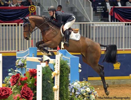 Photo 1 – International jumper star McLain Ward, Brewster, New York, lists the Royal Horse Show as one of his favorite events all year. He was named the Best International Jumper Rider at the 2015 Royal after winning four classes including the World Cup class with HH Azur, owned by Double H Farms in Florida.Photo by Kim MacMillan/MacMillan Photography