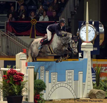 Photo 4 – Nicola Philippaerts and H&M Harley VD Bisschop in action in the Canadian Weston Open Jumper class on the second Friday of the Royal. Photo by Sarah Miller/MacMillan Photography