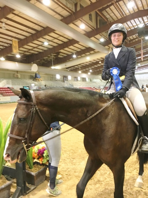 Darby Madden and Dhirector  , winner Hunter Finals Under Saddle Challenge