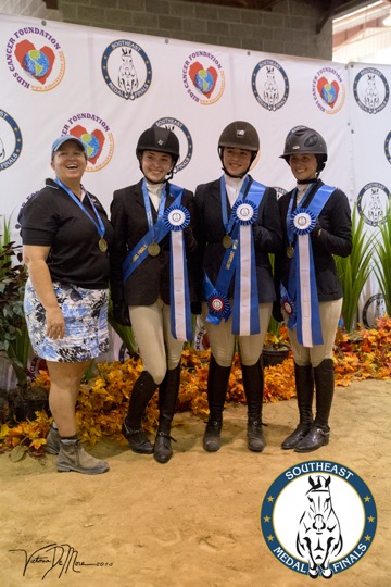 Equitation Team Challenge winners, with Coach Leslie Terry