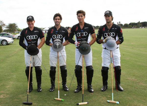 From left to right, Marc Ganzi (1), Carlitos Gracida (2), Nic Roldan (3), Nico Pieres (4). Photo by Alex Pacheco