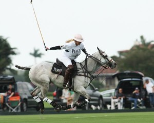Melissa Ganzi of Piaget on her way scoring a goal in the first chukker.
