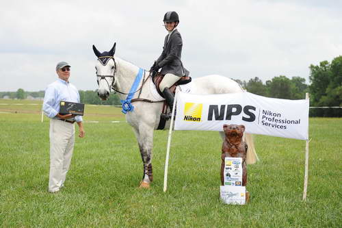 2012 Novice 3D winner Elliott Blackmon on Tully Cross Prescott with course designer Tremanie Cooper.  Photo by Diana De Rosa
