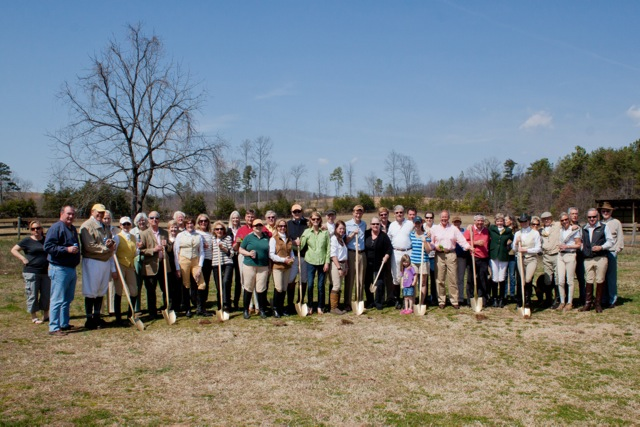 Tryon Hounds Members Turn Out To Break Ground on New Residence for Huntsman. Photo credits: Don West