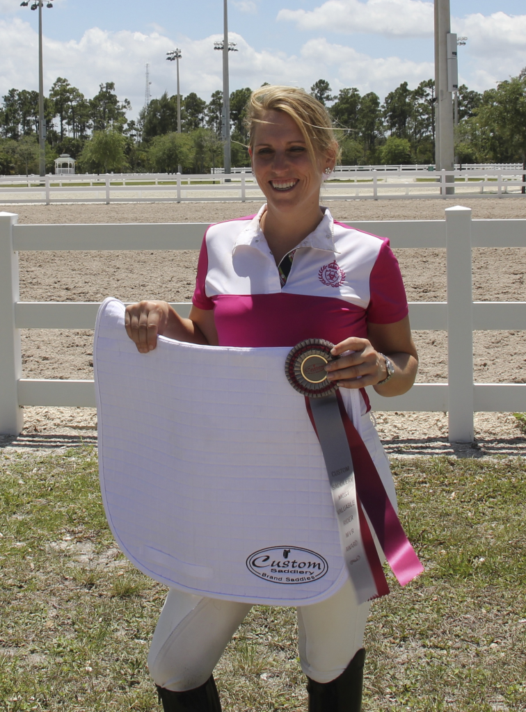 Heidi Degele was awarded the Custom MVR award at the Wellington Classic Dressage Challenge III. (Photo courtesy of JRPR)