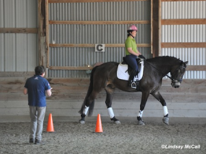 Roxanne Trunnell and Kodiak work with Clive Milkins photo by Lindsay McCall