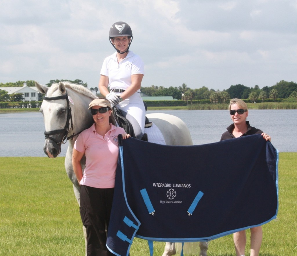 Heather Bender and Bombadil Interagro were presented with the Interagro Lusitanos High Score Lusitano at the Gold Coast Summer Solstice.