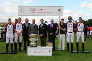 England's winning Westchester Cup team with Prince Charles and other dignitaries. From left to right players are (1) James Beim, the game's MVP, (2) Mark Tomlinson, (3) JP Clarkin and (4) Luke Tomlin. Photos courtesy of Audi International