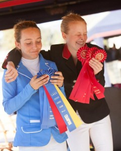 Sophie St.Clair and Katie Murray at the Los Angeles Equestrian Center Opener