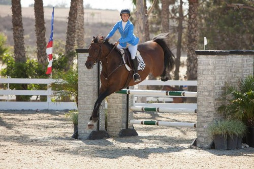 Sjapoo and Sophie in the JO in the Black Star Equestrian Children's Jumper Classic