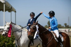 Katie Murray takes 2nd and Sophie St.Clair takes 4th in the Children's Jumper Classic at Blenheim June Classic 2.
