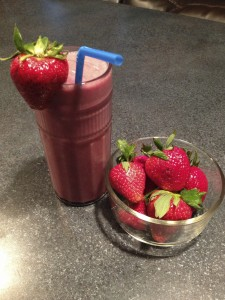 Strawberry and Cream shake mimics a milkshake without tons of extra calories and a bright burst of berry flavor.
