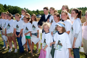 Volunteers Meeting McLain Ward after the Grand Prix in 2011
