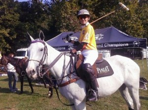 rant Ganzi of Grand Champions Polo Club saddling up for the opening round game.