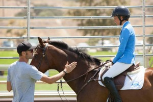David Sterckx talks with Sophie St.Clair after her round.